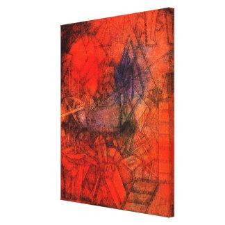 """Arte de Klee, """"Groynes. """" Impresión En Lona"""