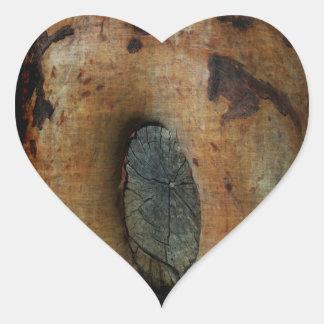 Arte de Knothole Pegatina En Forma De Corazón