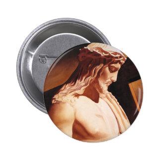 "Arte de la acuarela de Jesús ""de la pasión"" Pin Redondo 5 Cm"
