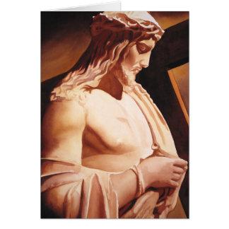 """Arte de la acuarela de Jesús """"de la pasión"""" Tarjeta De Felicitación"""