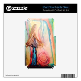 Arte de la acuarela de la conciencia del cáncer de iPod touch 4G calcomanía