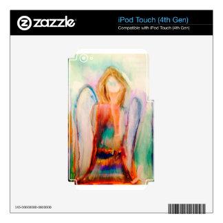 Arte de la acuarela de la conciencia del cáncer de iPod touch 4G skins