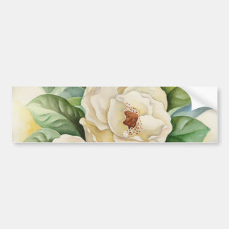 Arte de la acuarela de la flor de la magnolia - mu pegatina para auto