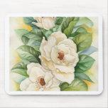 Arte de la acuarela de la flor de la magnolia - mu tapetes de raton