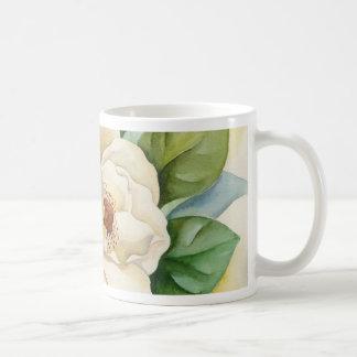 Arte de la acuarela de la flor de la magnolia - taza