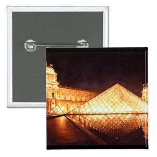 "Arte de la acuarela de ""Les Lumieres du Louvre"" Pin Cuadrada 5 Cm"