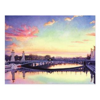 """Arte de la acuarela de """"Pont Neuf París"""" Francia Postal"""