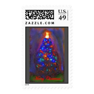 Arte de la acuarela del árbol de navidad envio