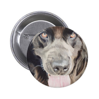 "Arte de la acuarela del perro de ""Terranova"" Newfi Pin Redondo 5 Cm"