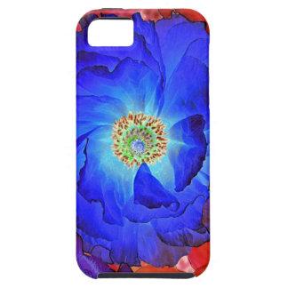 Arte de la amapola azul de los volantes funda para iPhone SE/5/5s