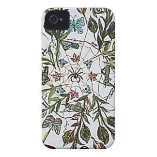 Arte de la araña de Spiderweb iPhone 4 Case-Mate Carcasa