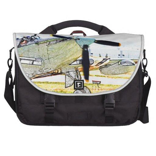 Arte de la aviación de la representación de la luc bolsas para portátil