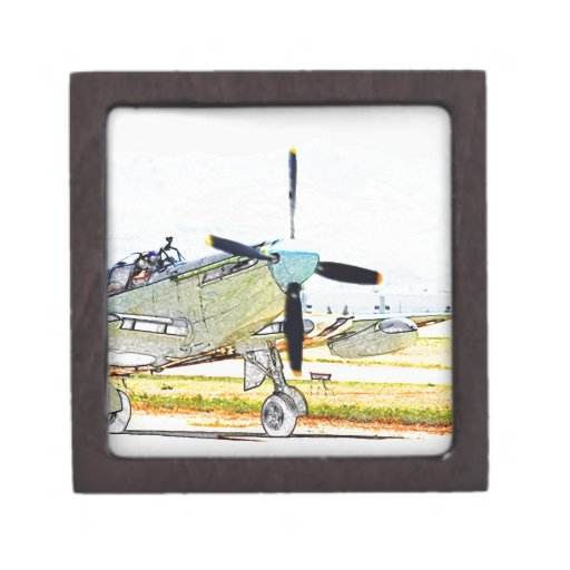 Arte de la aviación de la representación de la luc cajas de regalo de calidad