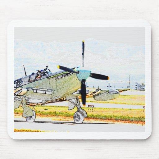 Arte de la aviación de la representación de la luc alfombrilla de ratón