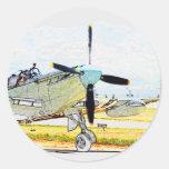 Arte de la aviación de la representación de la etiquetas redondas