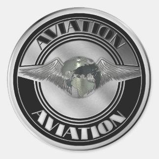 Arte de la aviación del vintage pegatinas