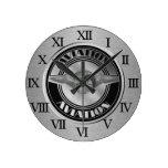 Arte de la aviación del vintage relojes de pared