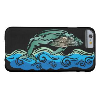 Arte de la ballena funda de iPhone 6 barely there