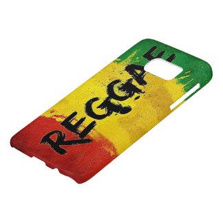 arte de la bandera de la pintada del reggae del funda samsung galaxy s7
