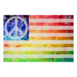 Arte de la bandera del monstruo de la paz del Hipp Impresiones