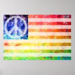 Arte de la bandera del monstruo de la paz del Hipp Póster