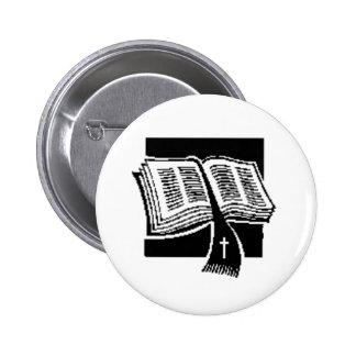 Arte de la biblia pin redondo de 2 pulgadas