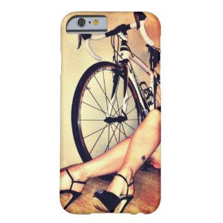 Arte de la bicicleta, de las piernas y de los funda barely there iPhone 6