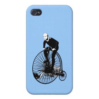 Arte de la bicicleta del vintage del comino del pe iPhone 4/4S carcasa