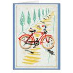 Arte de la bicicleta del vintage felicitacion