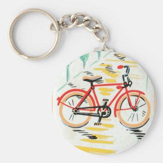 Arte de la bicicleta del vintage llaveros