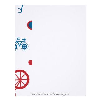 Arte de la bicicleta membrete