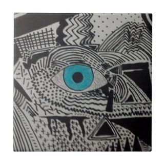 Arte de la bola del ojo de Natalie Azulejo Cuadrado Pequeño