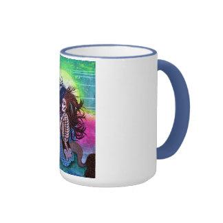 Arte de la bruja del mar taza de dos colores