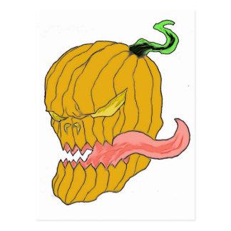 Arte de la calabaza de Halloween Tarjeta Postal