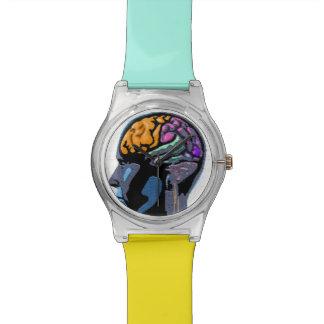 Arte de la calle de la mente humana reloj