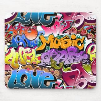 Arte de la calle de la pintada mousepads