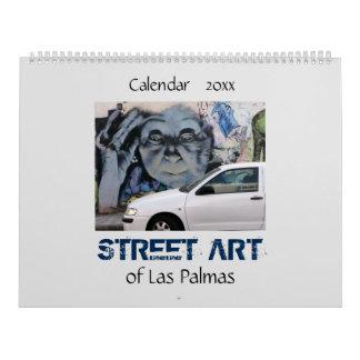 Arte de la calle del Las Palmas 20XX Calendario De Pared
