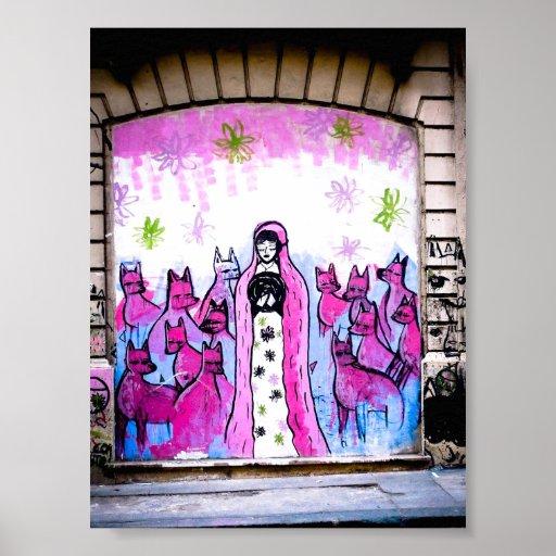 Arte de la calle en el poster de Buenos Aires