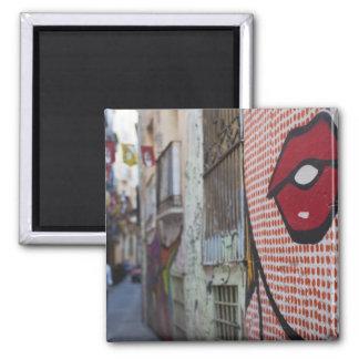 Arte de la calle en la calle de Calle de la Libert Imán Cuadrado