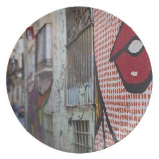 Arte de la calle en la calle de Calle de la Libert Plato Para Fiesta