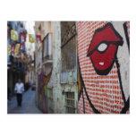 Arte de la calle en la calle de Calle de la Postales