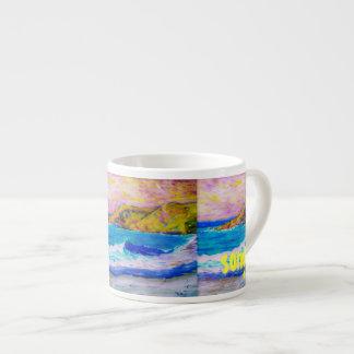 arte de la canción de la onda taza espresso