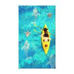 """Arte de la canoa del kajak del océano """"secretos impresión en lona"""