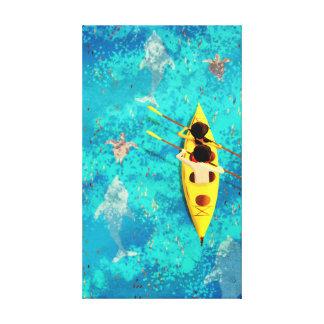"""Arte de la canoa del kajak del océano """"secretos lona envuelta para galerias"""