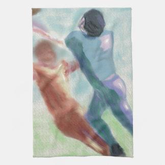 Arte de la captura del fútbol toallas