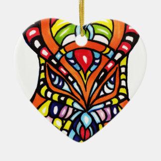 Arte de la captura SID Adorno Navideño De Cerámica En Forma De Corazón