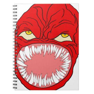Arte de la cara del diente del demonio