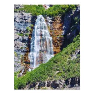 Arte de la cascada #1b- de Utah/papel de Membrete A Diseño