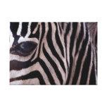 Arte de la cebra impresiones en lienzo estiradas