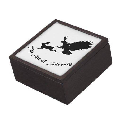 Arte de la cetrería - halcón rojo de la cola cajas de recuerdo de calidad